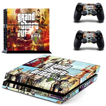 GTA 5: Grand Theft Auto 5 PS4 Cilt Kapak sony PlayStation 4 PS4 Konsol Cilt Sticker + 2 Adet Denetleyici Kapağı