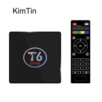 KimTin T6 Amlogic S905X Quad Core Android 7.1 Takım Üst Kutusu 4 K 2 GB 16 GB 2.4G Wifi HDMI 2.0 Smart TV Media Player Miracast PK X96