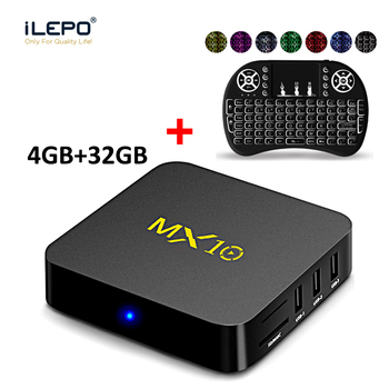 MX10 Android 7.1 Akıllı TV Kutusu RK3328 Quad Core 64bit 4 GB 32 GB KD 17.4 HD 2.0 Wifi 100 M LAN VP9 4 K USB3.0 Set-top Box PK X96 mini
