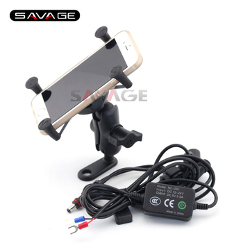 For YAMAHA MT-09 FZ-09 FJ-09 MT09 Tracer MT-07 FZ-07 Motorcycle Navigation Frame Mobile Phone Mount Bracket with USB charger