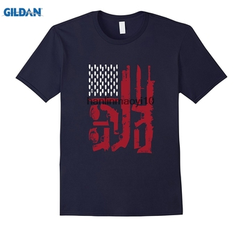GILDAN Bullets guns stars and stripes amerikan bayrağı yurtsever tee