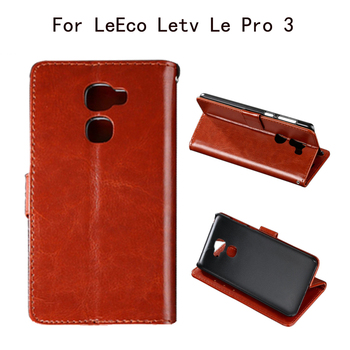 Luxury Flip PU Leather Case For LeEco Letv Le Pro 3 Phone Cases With Card Holder Strap Phone Cover Bags