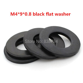 500pcs m4*9*0.8 steel with oxide black flat washer
