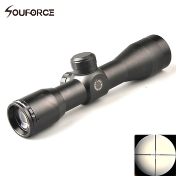 Avcılık Taktik 4X32 Optik Sight Kapsam Mil Dot ile Riflescopes 2 stil Ray Mount 20mm Weaver/Picatinny ray