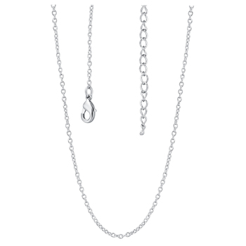 Long Chains Women Jewelry White Gold Colou Fashion Thin Link Chains Necklace N604