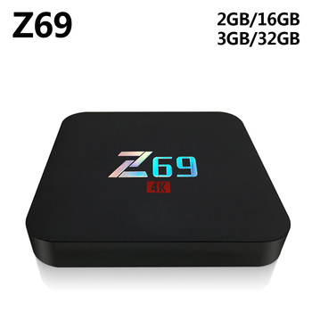 Z69 Android 7.1 TV Kutusu Amlogic S905X Quard Çekirdek 3 GB RAM 32 GB ROM 2.4 GHz Wifi Bluetooth Akıllı Set Top Box 4 K HD Media Player
