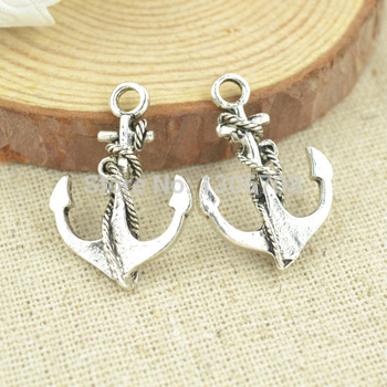 HOT 70pcs Necklace&bracelets making for metal anchor charms tibetan silver pendants diy jewelry findings and components 3052