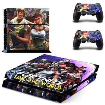Fortnite Vinil Sticker PS4 PlayStation4 Konsolu ve 2 kontrolör skins Cilt Çıkartması Sticker Için