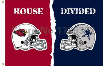 Arizona Cardinals Dallas Cowboys kask Evi Bölünmüş Flag3ft x 5ft