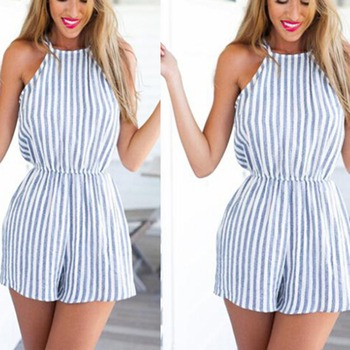 RRomper Womens 2017 Kadın Yaz Clubwear Halter Backless Playsuit Bodycon Parti Tulum Romper Pantolon Sml XL