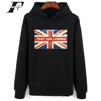 2017 LONDRA baskılı hoodie Sweatshirt Erkekler kadınlar IÇIN DUA survetement homme moletom Mens Hoodies Ve Tişörtü eşofman